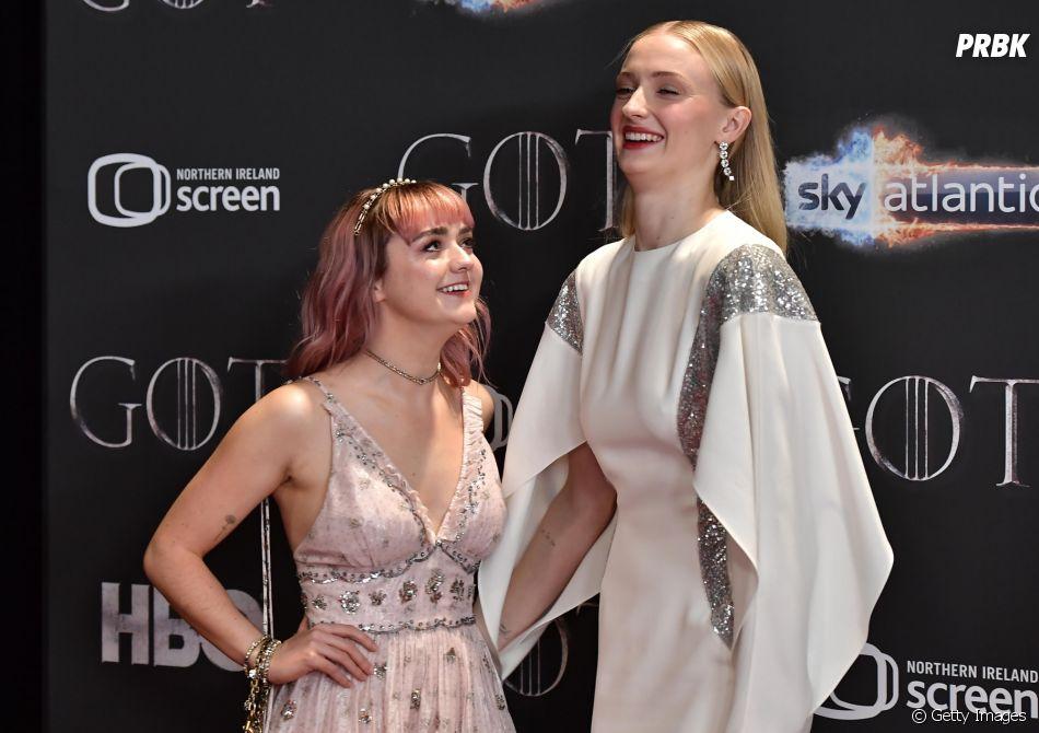 """A amizade da Sophie Turner e Maisie Williams, de """"Game of Thrones"""", não é maravilhosa?"""