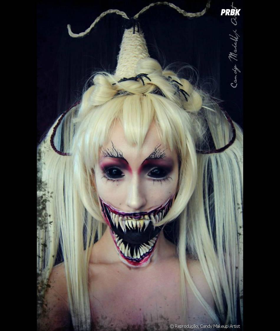 Isso Que é Uma Maquiagem De Bruxa Assustadora Purebreak