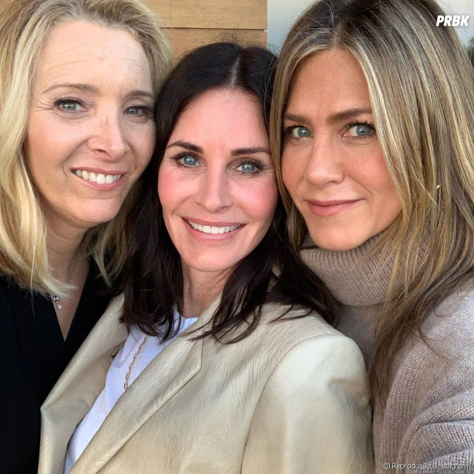 """Friends"": Jennifer Aniston, Courteney Cox e Lisa Kudrow já tinham se encontrado antes"