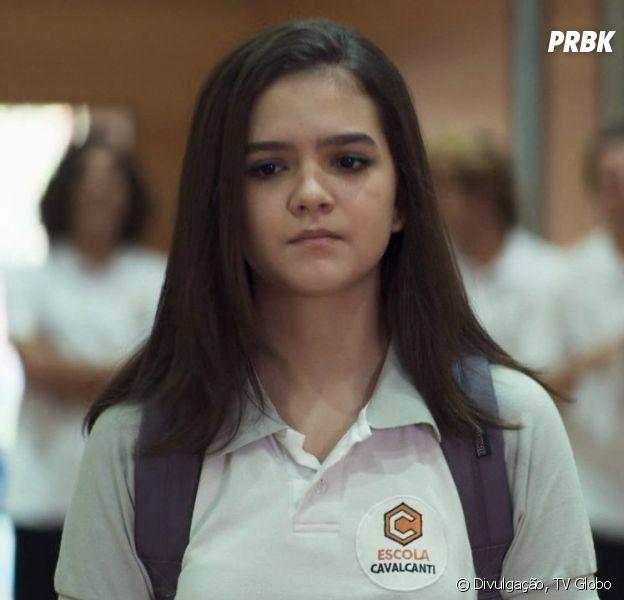 """""""A Dona do Pedaço"""":Mel Maia vive a personagem Cássia, que sofre bullying na escola"""