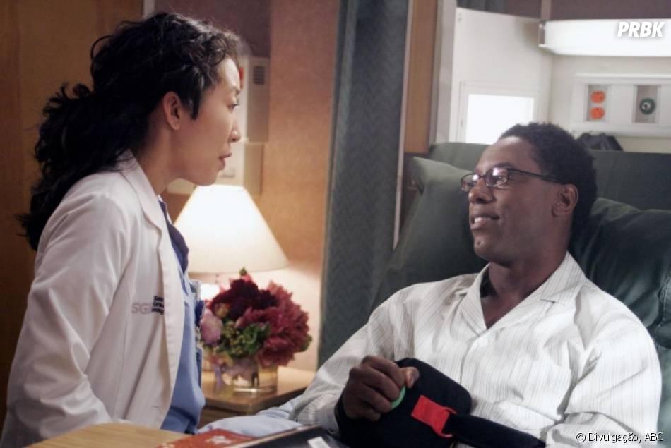 """O Dr. Preston Burke (Isiah Washington) e Cristina (Sandra Oh) são um dos casais mais marcantes de """"Grey's Anatomy"""""""