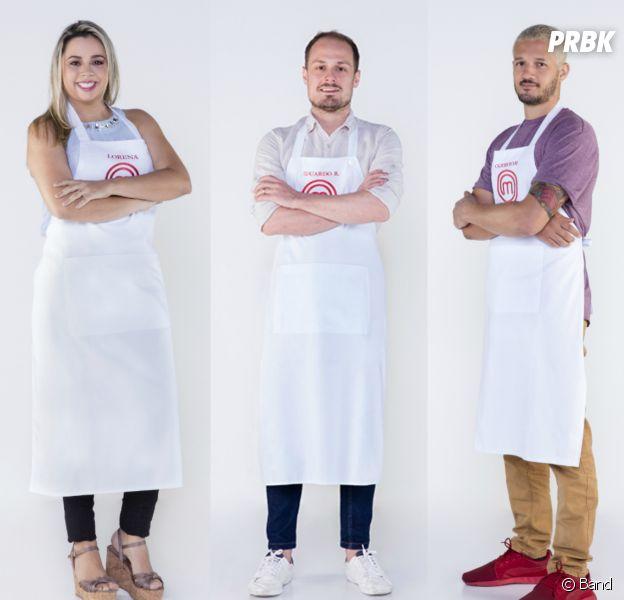"""Lorena, Eduardo ou Rodrigo: vote e escolha seu participante favorito do """"MasterChef Brasil"""""""