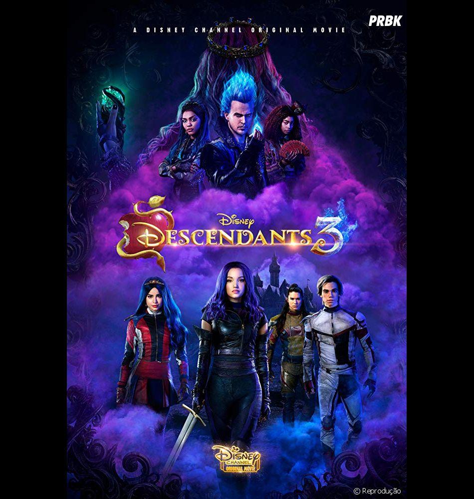 """""""Descendentes 3"""" foi o último filme da franquia, lançado em agosto deste ano"""