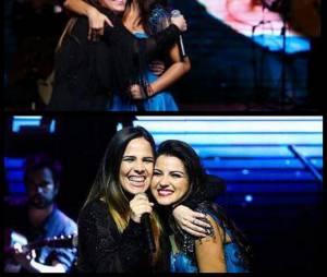 Maite Perroni fez uma montagem para agradecer a presença de Wanessa Camargo em seu Instagram
