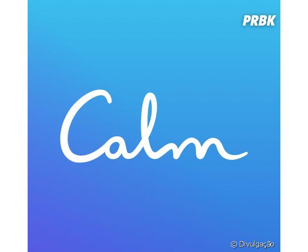 O aplicativo Calm é gratuito e te ajuda na meditação com exercícios para vários momentos do dia