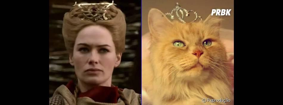 """Cersei (Lena Headey) com seu olhar penetrante em """"Game of Thrones"""""""