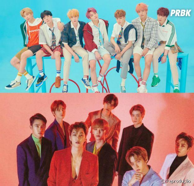 BTS ou EXO? Faça o teste e descubra qual boygroup tem mais a ver com você
