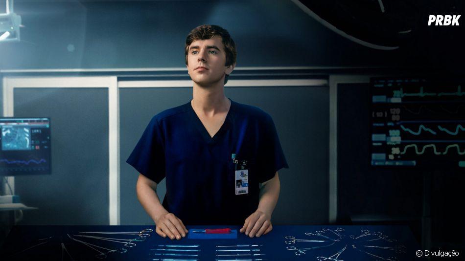 """""""The Good Doctor"""": Shaun Levy (Freddie Highmore) é o protagonista com o espectro autista da série"""