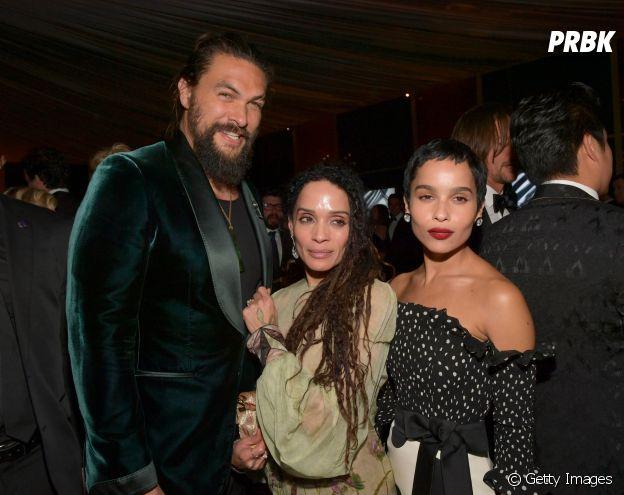 """Jason Momoa, de """"Aquaman"""", é padrasto da atriz Zoe Kravitz"""