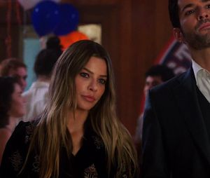 "Em ""Lucifer"", a Detetive Chloe (Lauren German) trabalha ao lado de Lucifer (Tom Ellis)"