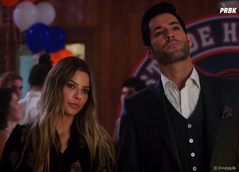 "Em ""Lucifer"", a Detetive Chloe (Lauren German) trabalha ao lado de Lucifer (Tom Ellis)"