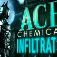 "3º trailer com gameplay de ""Batman: Arkham Knight"": metendo moral na fábrica ACE Chemicals"