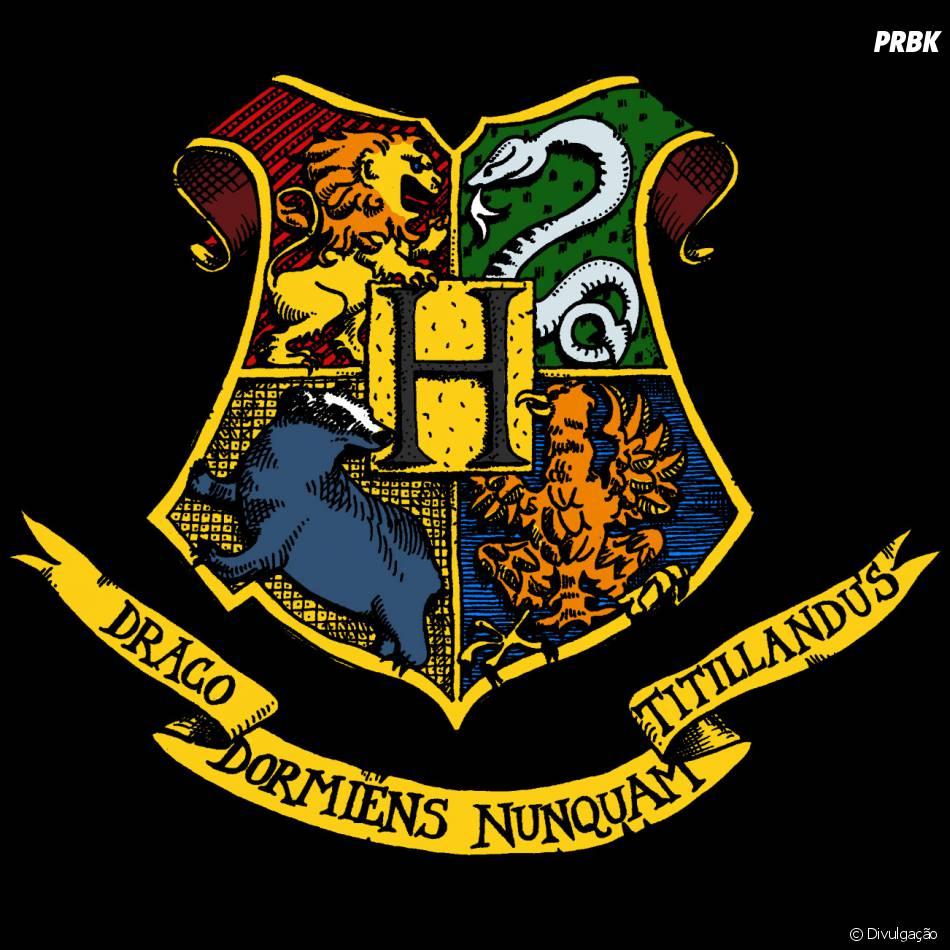 O bras o de hogwarts em harry potter juntava todas os - Harry potter casas ...
