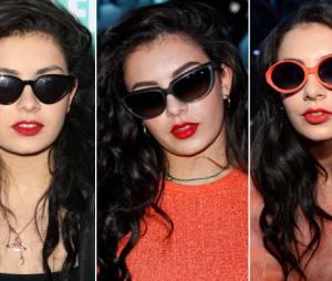Charli XCX sempre apresenta modelos incríveis de óculos!