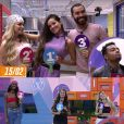 """BBB21"": Juliette mantém Viih Tube no pódio, mas substitui Gil por Camilla"