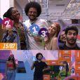 """""""BBB21"""": em segundo jogo da discórdia de formação de pódios, João escolhe Camilla e Thaís"""
