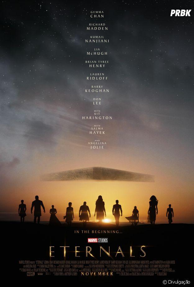 """""""Os Eternos"""", da Marvel, ganha pôster oficial e teaser trailer"""