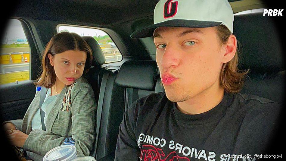 Atualmente, Millie Bobby Brown pode estar namorando Jake Bongiovi, filho de Bon Jovi de 19 anos