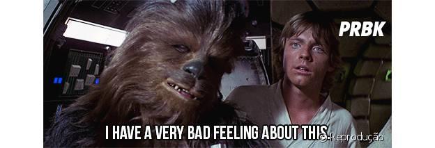 """É clássico em """"Star Wars"""" que alguém esteja com mau pressentimento"""