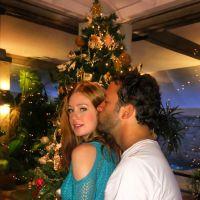 Marina Ruy Barbosa ganha beijo do namorado Caio Nabuco e compartilha o momento na web
