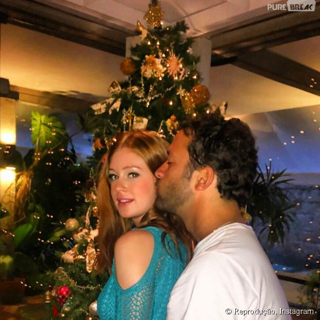 Marina Ruy Barbosa e Caio Nabuco compartilham momento especial da noite de Natal no Instagram