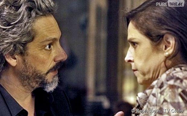 """Cora (Drica Moraes) revela que sempre foi apaixonada por José Alfredo (Alexandre Nero), em """"Império"""", da Globo"""