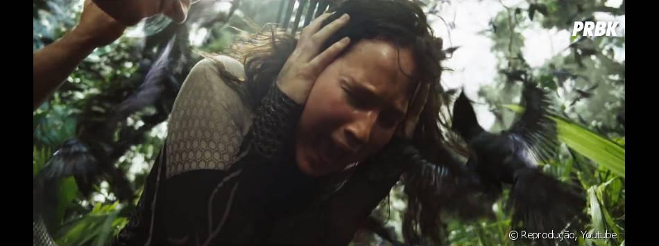 """""""Jogos Vorazes: Em Chamas"""" mostrará Katniss (Jennifer Lawrence)tentando sobreviver mais uma vez na arena"""