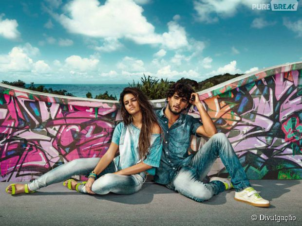 A atriz Bruna Marquezine e o modelo catarinense Marlon Teixeira foram as estrelas da campanha outono-inverno 2014 da grife Coca-Cola Jeans