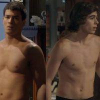 """Duelo """"Malhação"""": Duca (Arthur Aguiar) ou Pedro (Rafael Vitti)? Quem fica melhor sem camisa?"""