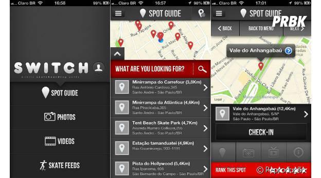 """""""Switch Skate Guide"""" permite que você marque no mapa um pico que encontrou"""