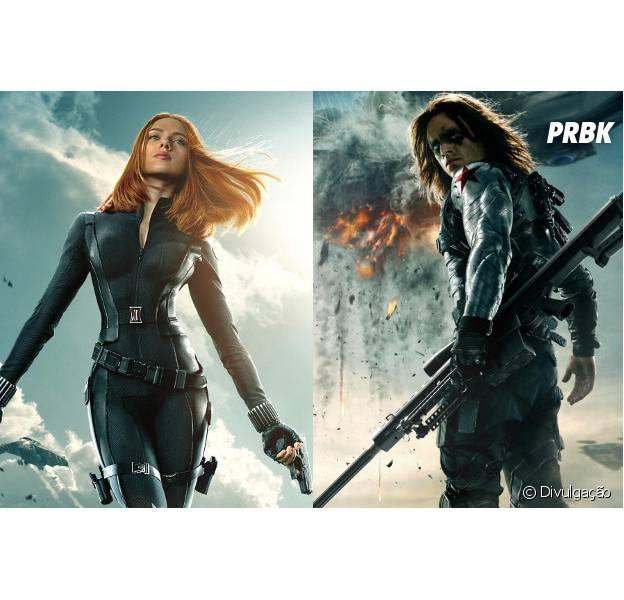 """Viúva Negra e Soldado Invernal em """"Capitão América 3"""""""