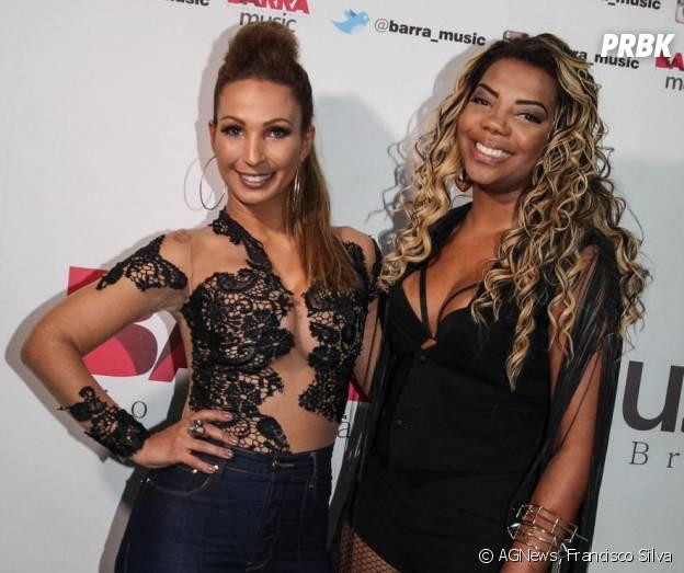 """Valesca reforçou a amizade com Ludmilla ao fazer um cover de """"Hoje"""" na """"Diva Tour"""""""