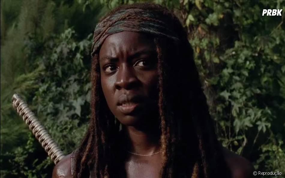 "Michonne (Danai Gurira) faz discurso no trailer de ""The Walking Dead"""