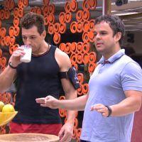 """No """"BBB15"""": Adrilles, Aline e Fernando mostram ansiedade para a 2ª prova do líder"""