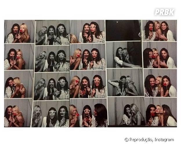 Famosas tiram foto na cabine de fotografia do aniversário de Harry Styles