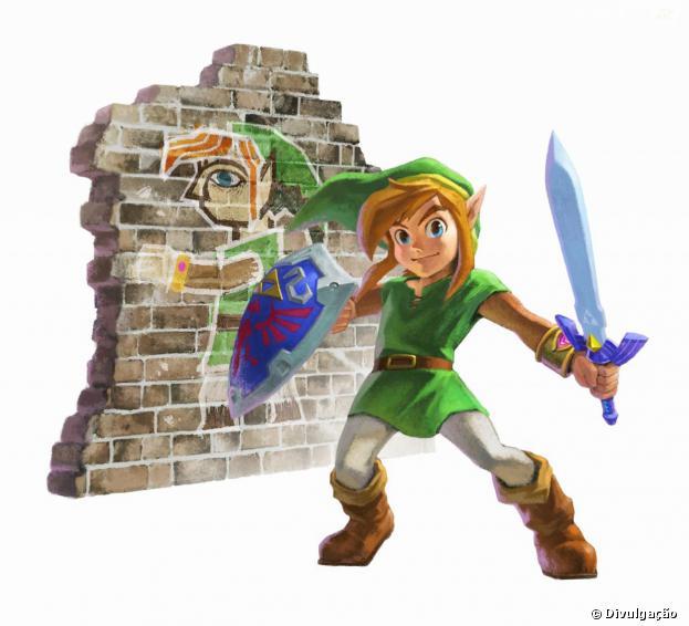 """""""The Legend of Zelda: A Link Between Worlds"""" é uma aventura inédita que chega com gráficos renovados"""