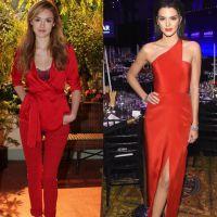 Duelo de looks: Isabelle Drummond ou Kendall Jenner? Quem arrasou no look vermelho fatal?