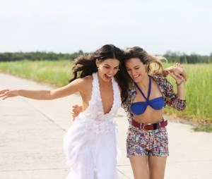 """Na última semana de """"Boogie Oogie"""", Isis Valverde e Bianca Bin garantem que rivalidade fica na ficção"""