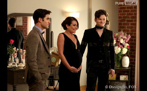 """Em """"Glee"""", Rachel (Lea Michele) aparece grávida no futuro!"""