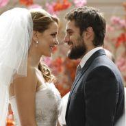 """Final da novela """"Império"""": Cristina (Leandra Leal) casa com Vicente usando vestido de Maria Clara!"""