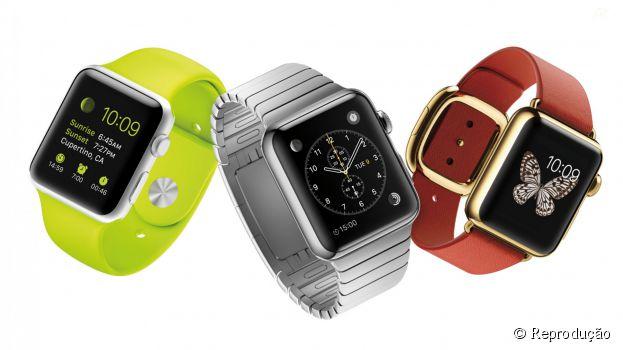 A Apple revelou o preço dos três modelos de relógio: Watch Sport: US$ 349; Watch: US$ 549; Watch Edition: US$10 mil