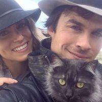 """Ian Somerhalder, de """"The Vampire Diaries"""", ganha declaração de Nikki Reed no Instagram"""