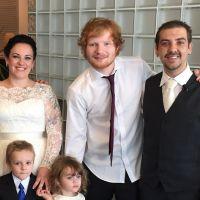 """Ed Sheeran invade casamento e canta """"Thinking Out Loud"""" para a primeira dança dos noivos!"""