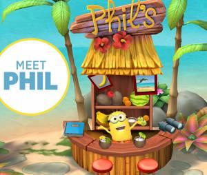 "Phill é o Minion que protagoniza o jogo ""Minions Paradise"""
