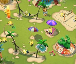 """Como o próprio nome da diz, a missão dos jogadores em """"Minions Paradise"""" é fazer uma cidade praiana com a cara das criaturas amarelas"""