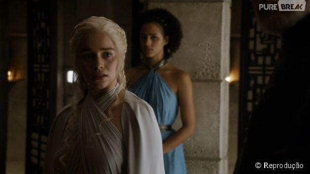 """Em """"Game of Thrones"""", Daenerys (Emilia Clarke) está começando a perder o controle das coisas"""