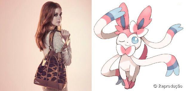 Do tipo fada, o pokémon Sylveon é fofo igual a Marina Ruy Barbosa