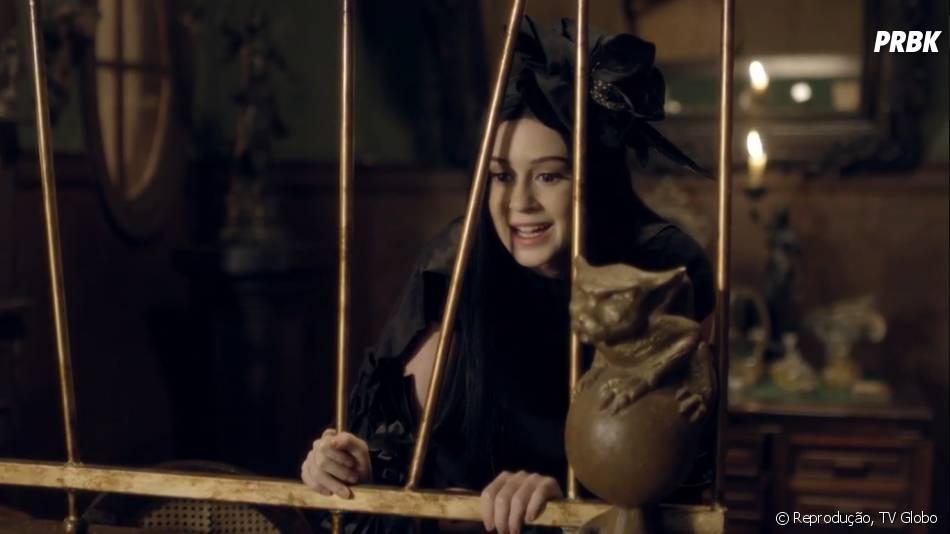 """A personagem de Marina Ruy Barbosa em """"Amorteamo"""" se chama Malvina, uma jovem com casamento prometido a Gabriel (Johnny Massaro)"""