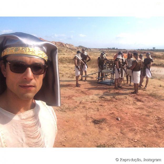 """Sérgio Marone, de """"Os Dez Mandamentos"""", se inspira em """"Game of Thrones"""" e na Disney para interpretar Ramsés"""