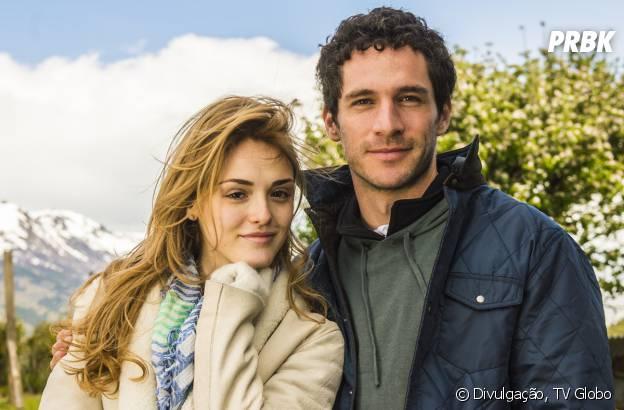 "Pedro (Jayme Matarazzo) sente ciúmes de Júlia (Isabelle Drummond) e Felipe (Michel Noher)em ""Sete Vidas"""